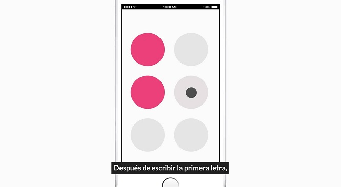 Ya esta disponible Brailling, una app para personas con discapacidad visual.